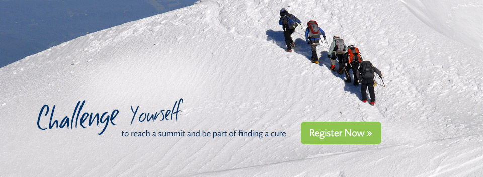 Challenge yourself to reach a summit and be part of finding a cure: Register now