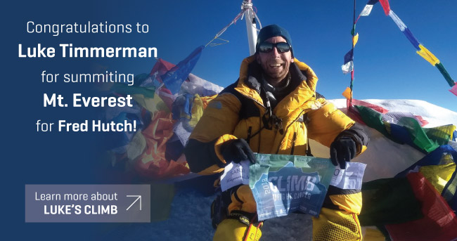 Congratulations to Luke Timmerman for summiting Mt. Everest!
