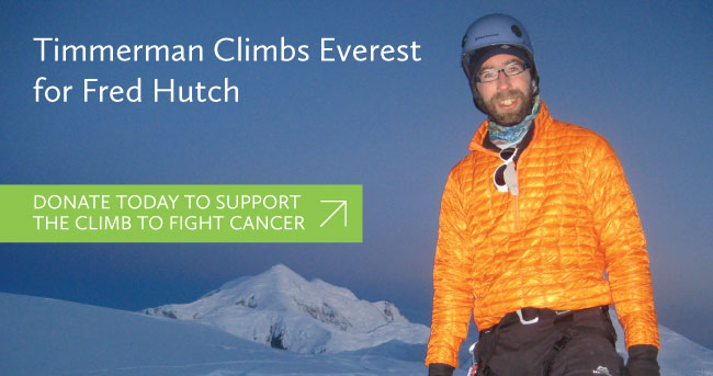 Timmerman Climbs Everest for Fred Hutch