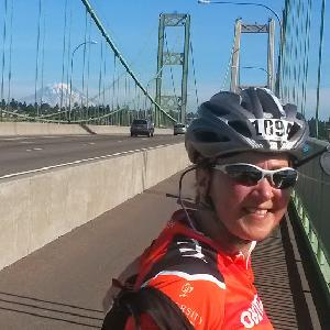 2014 Obliteride crossing Tacoma Narrows Bridge