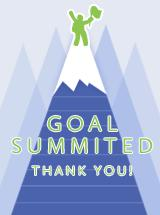 125 percent of goal achieved.